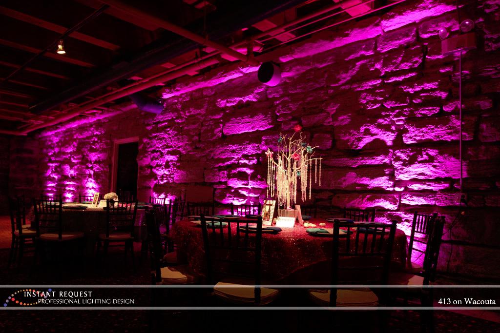 Wedding led uplighting at 413 on Wacouta 5