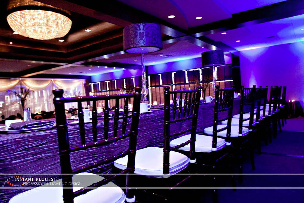 Wedding led uplighting at Brackett's Crossing 3