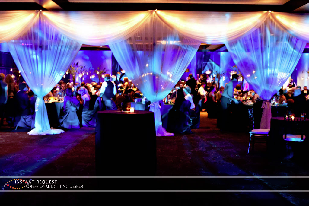 Wedding led uplighting at Brackett's Crossing 8