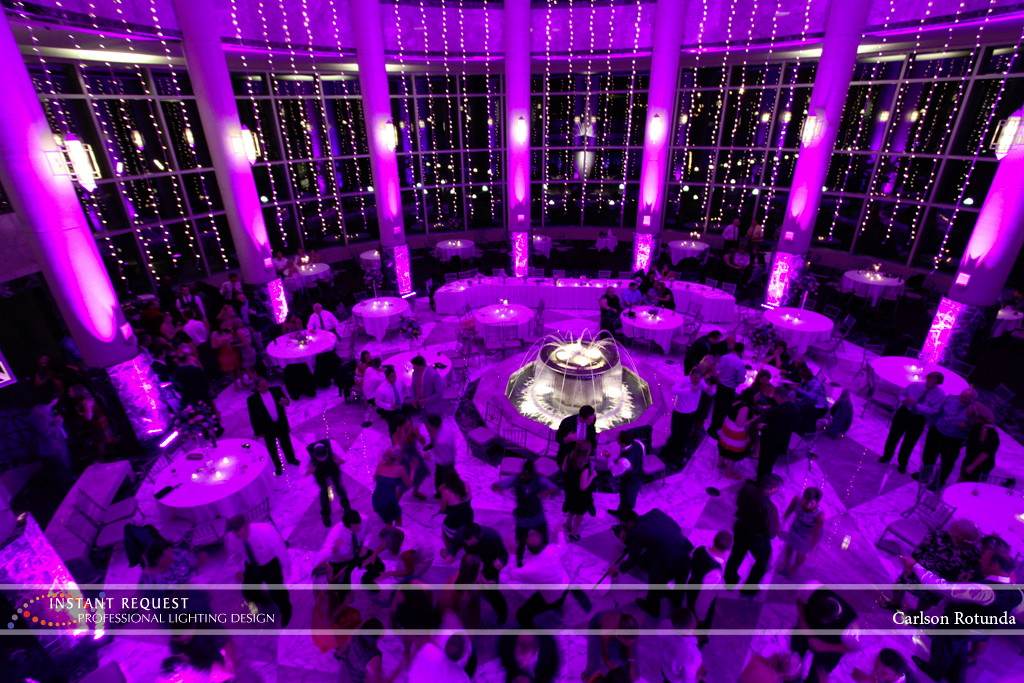 Wedding led uplighting at Carlson Rotunda 20