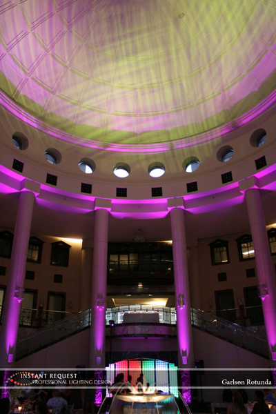 Wedding led uplighting at Carlson Rotunda 14