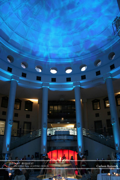 Wedding led uplighting at Carlson Rotunda 15