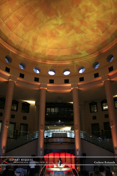Wedding led uplighting at Carlson Rotunda 16