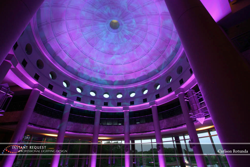 Wedding led uplighting at Carlson Rotunda 4