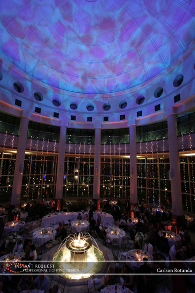 Wedding led uplighting at Carlson Rotunda 8