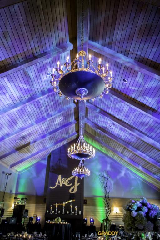 Wedding Uplighting at Dellwood Hills 15