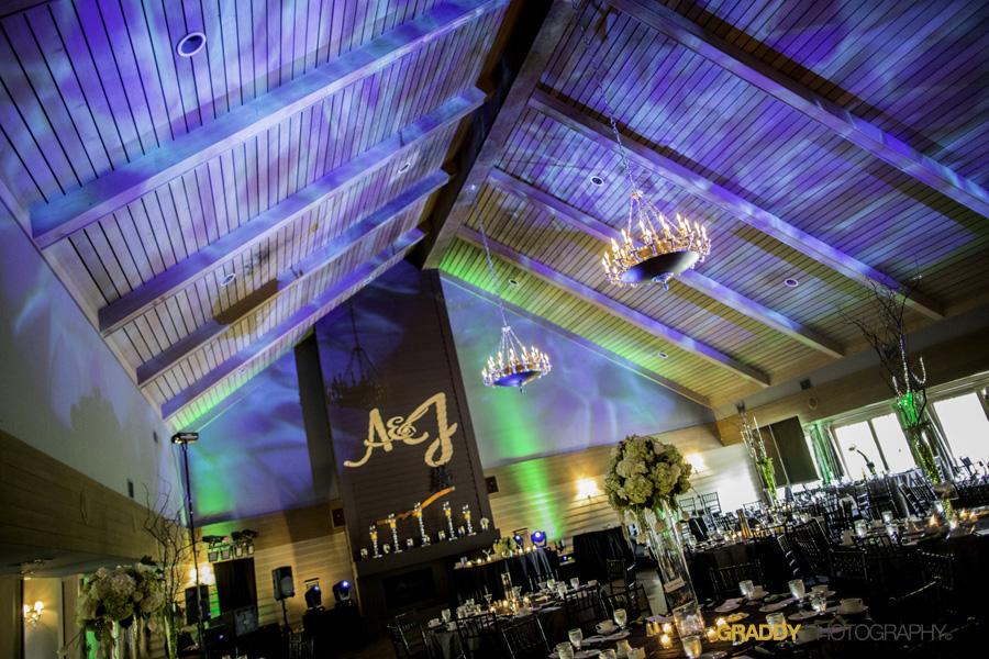 Wedding Uplighting at Dellwood Hills 17