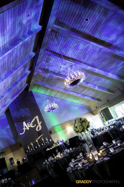 Wedding Uplighting at Dellwood Hills 19