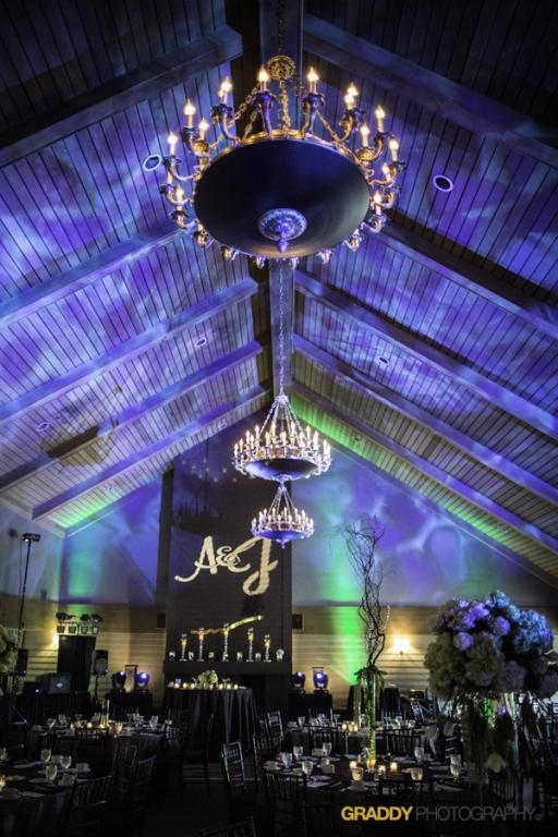 Wedding Uplighting at Dellwood Hills 2