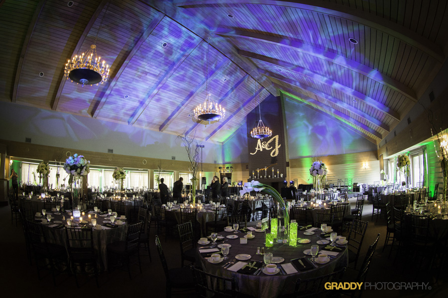 Wedding Uplighting at Dellwood Hills 6