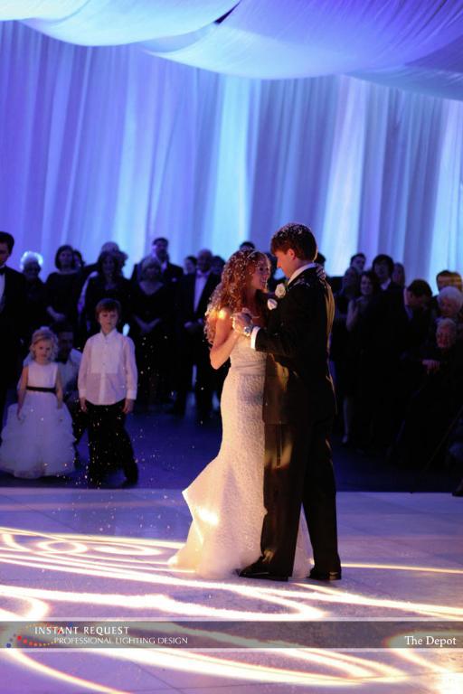 Wedding led uplighting at Depot Minneapolis 5