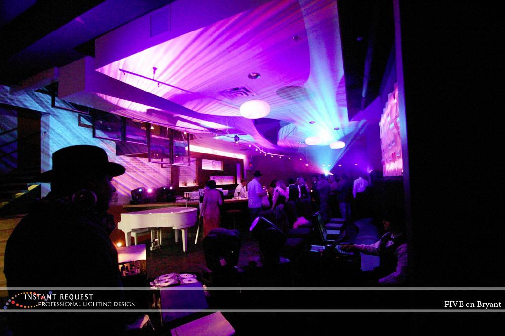 Wedding led uplighting at Five Event Center 2