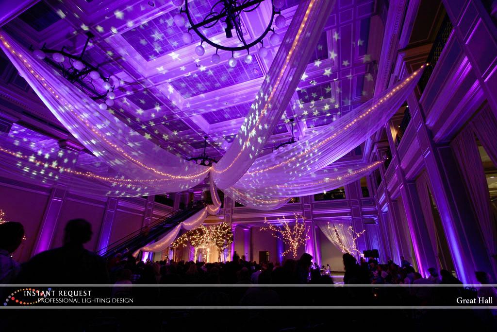 Wedding led uplighting at Great Hall 10