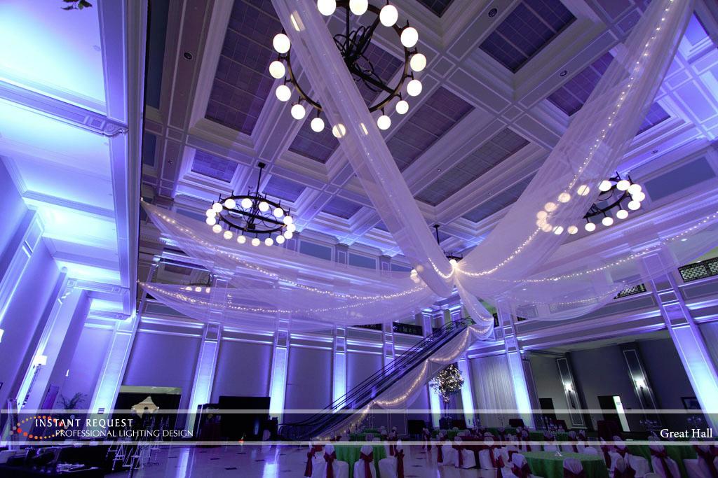 Wedding led uplighting at Great Hall 20