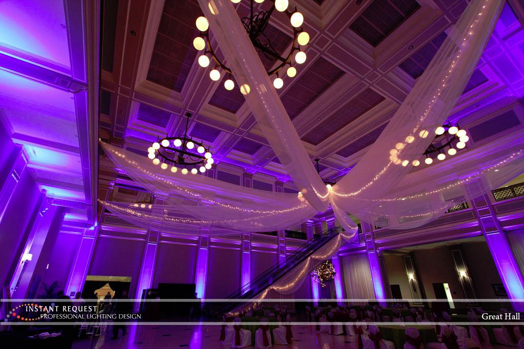 Wedding led uplighting at Great Hall 21