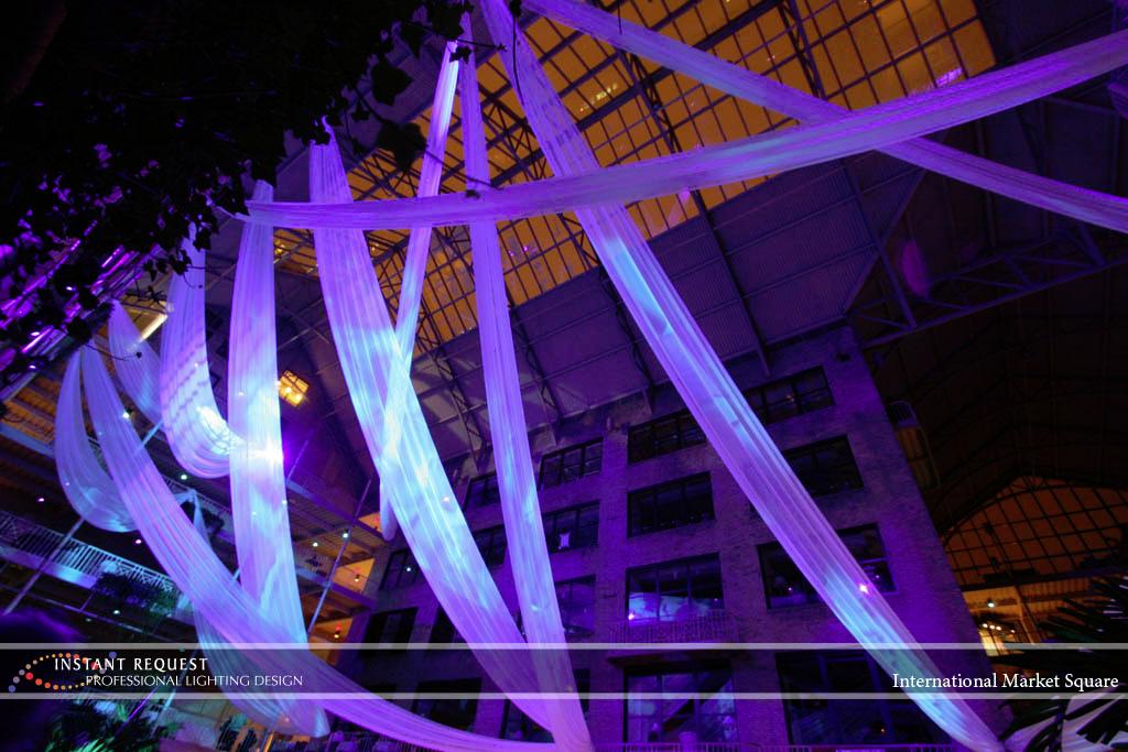 Wedding led uplighting at International Market Square 6