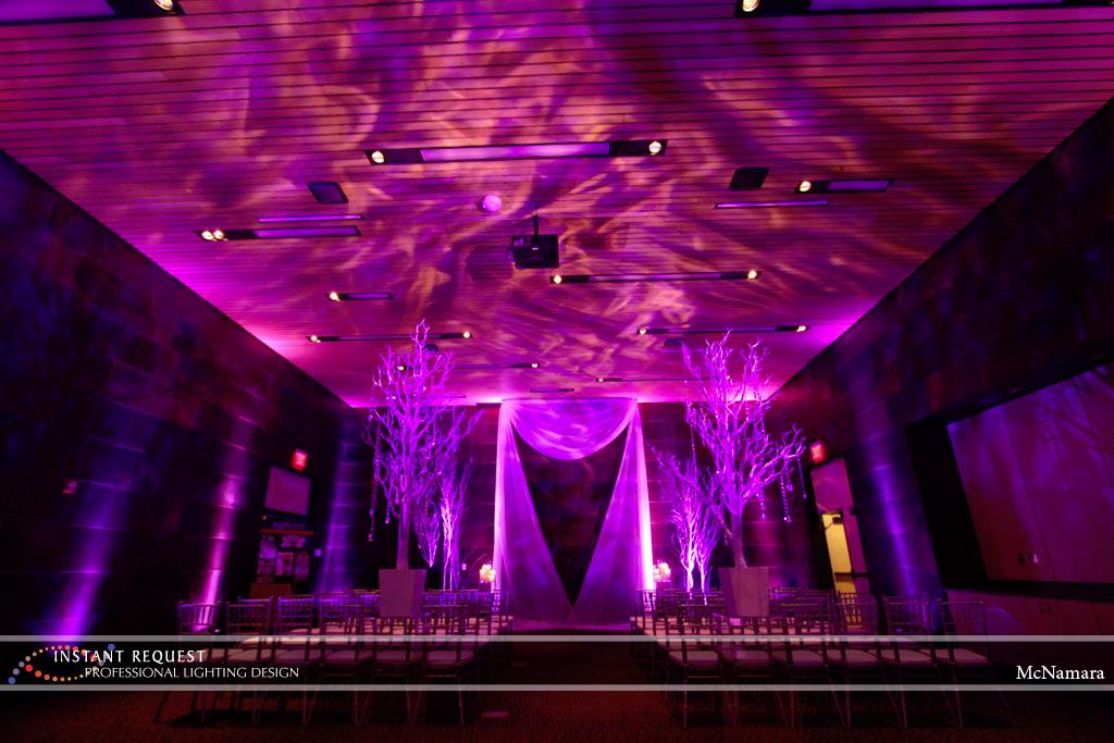 Wedding led uplighting at McNamara 11