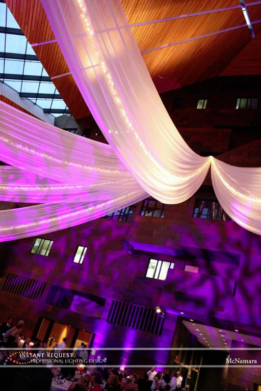 Wedding led uplighting at McNamara 4