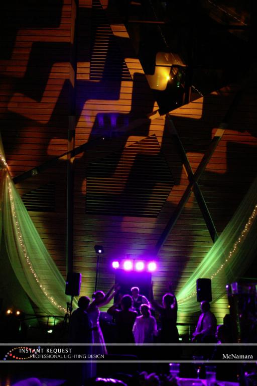 Wedding led uplighting at McNamara 5