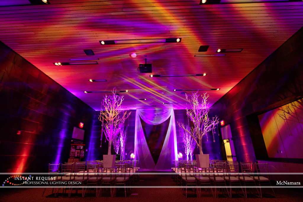 Wedding led uplighting at McNamara 6