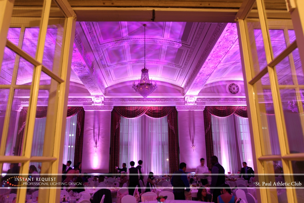 LED Wedding Uplighting at St. Paul Athletic Club 6