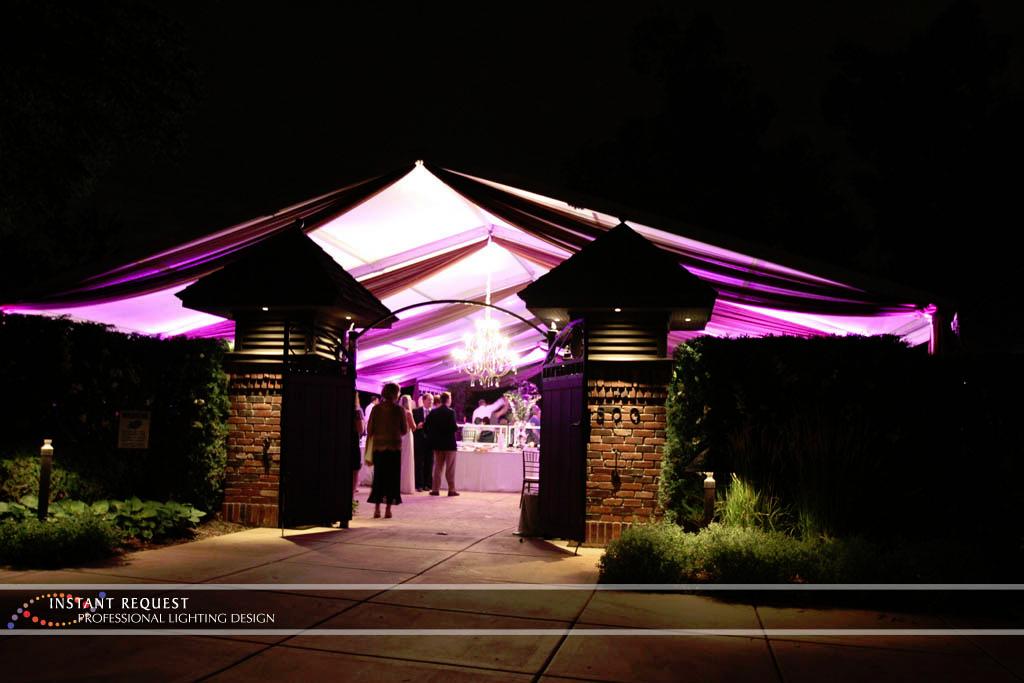 Wedding led uplighting at Tent 5