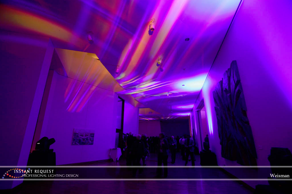 Wedding led uplighting at Weisman 3
