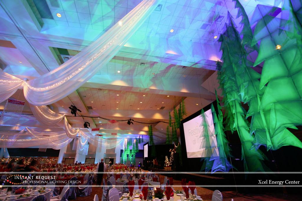 Wedding led uplighting at Xcel Energy Center 1