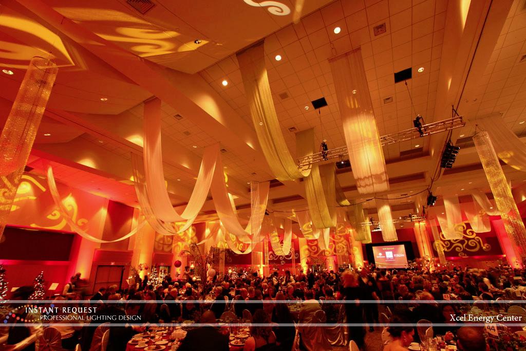 Wedding led uplighting at Xcel Energy Center 6